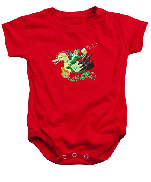 Lucky Leprechaun Baby Onesie by David Brodie