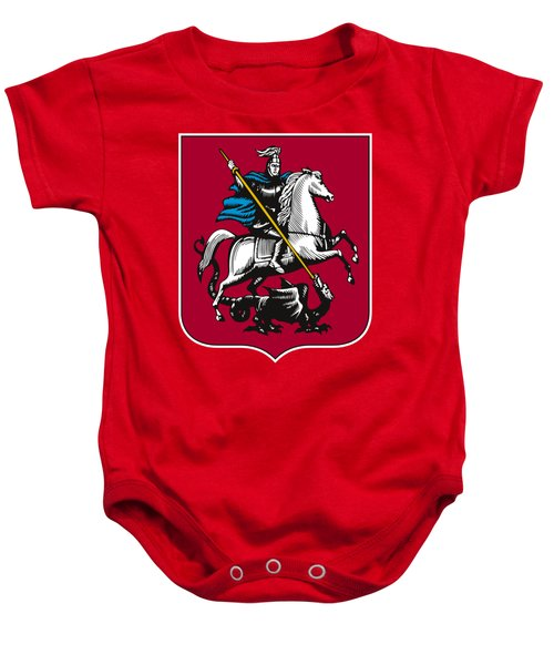 Moscow Coat Of Arms Baby Onesie by Frederick Holiday