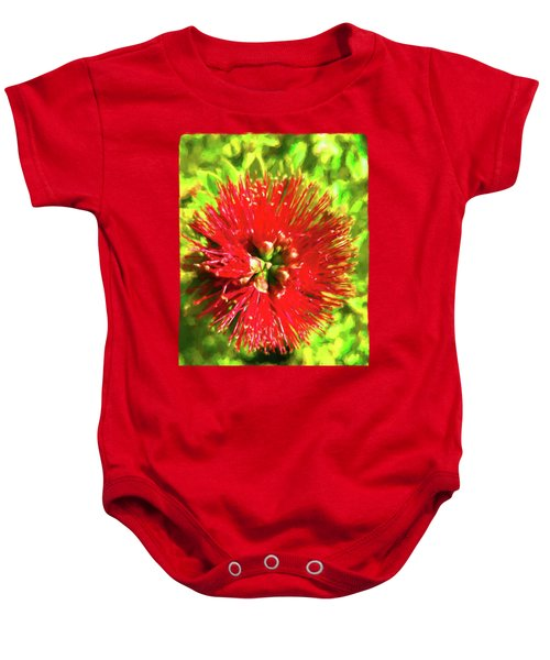 My Surreal Christmas Flower Baby Onesie by Jackie VanO
