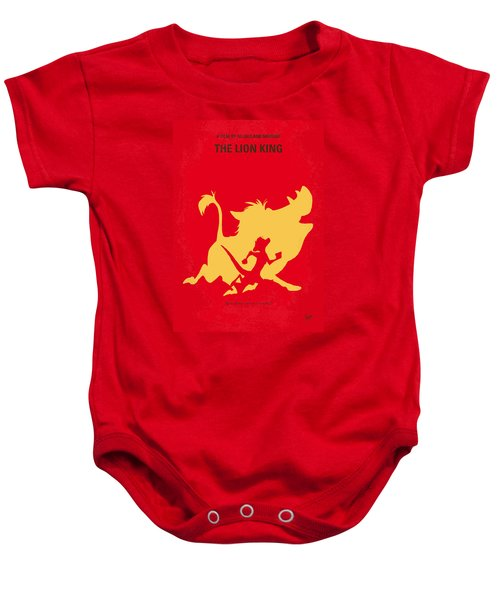 No512 My The Lion King Minimal Movie Poster Baby Onesie by Chungkong Art