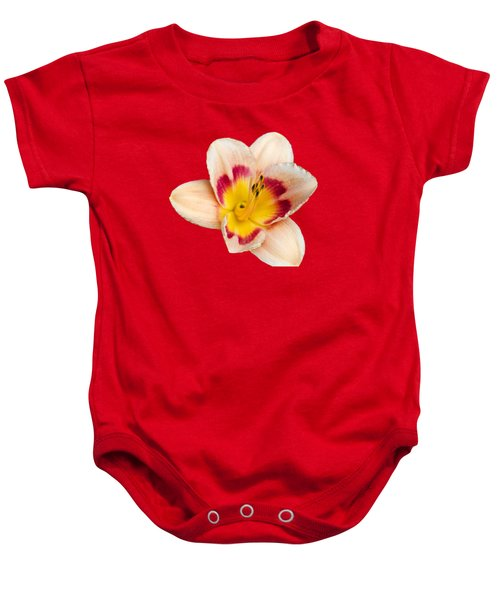 Orange Yellow Lilies Baby Onesie by Christina Rollo