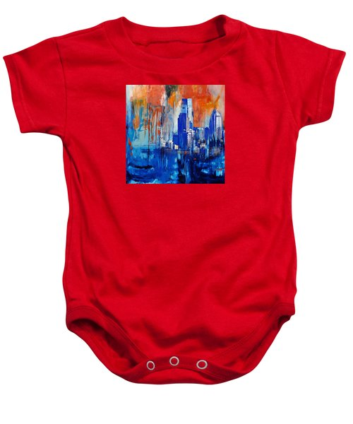 Philadelphia Skyline 227 1 Baby Onesie by Mawra Tahreem