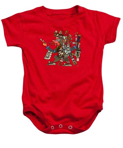 Quetzalcoatl In Human Warrior Form - Codex Borgia Baby Onesie by Serge Averbukh