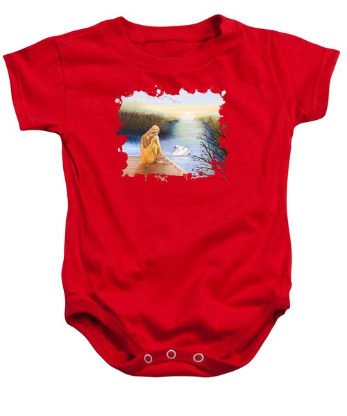 Swan Bride T-shirt Baby Onesie by Dorothy Riley