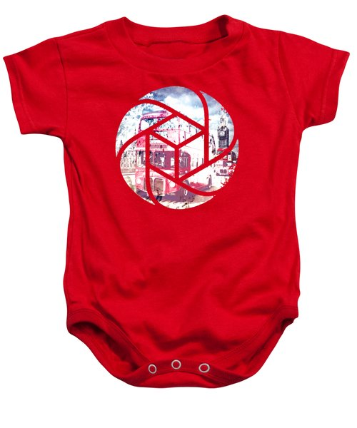 Trendy Design London Red Buses  Baby Onesie by Melanie Viola