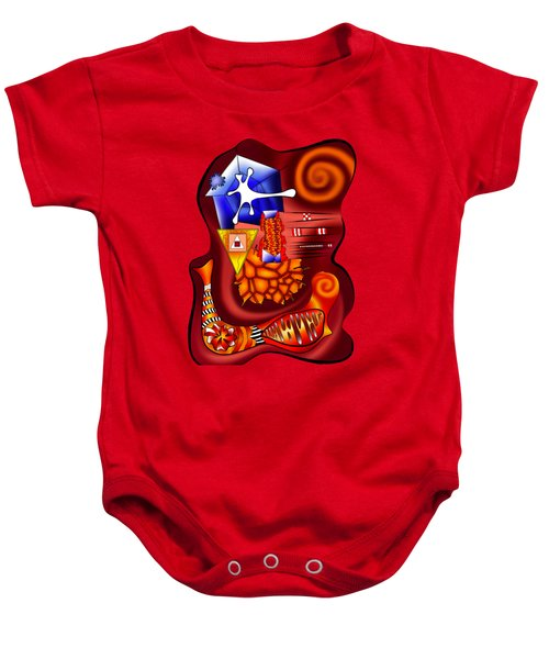 Versophomus V3 - Abstract Digital Painting Baby Onesie by Cersatti