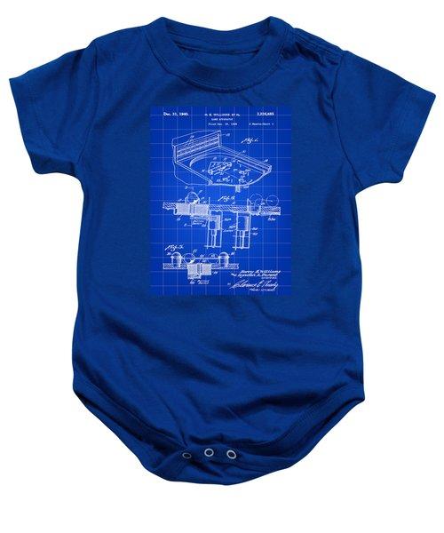 Pinball Machine Patent 1939 - Blue Baby Onesie by Stephen Younts