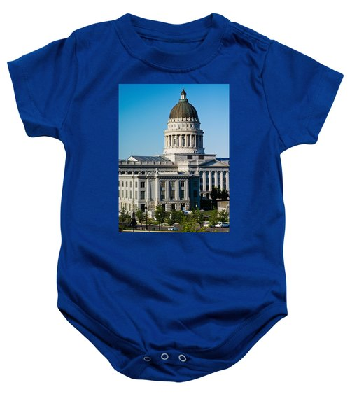 Utah State Capitol Building, Salt Lake Baby Onesie by Panoramic Images