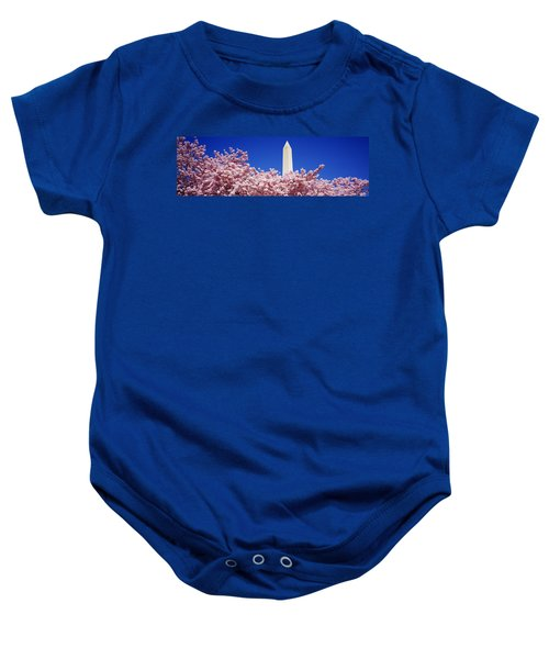 Washington Monument Washington Dc Baby Onesie by Panoramic Images