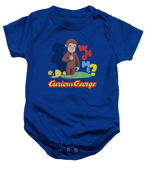 Curious George - Who Me Baby Onesie by Brand A