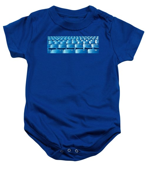 Empty Blue Seats In A Stadium, Soldier Baby Onesie by Panoramic Images