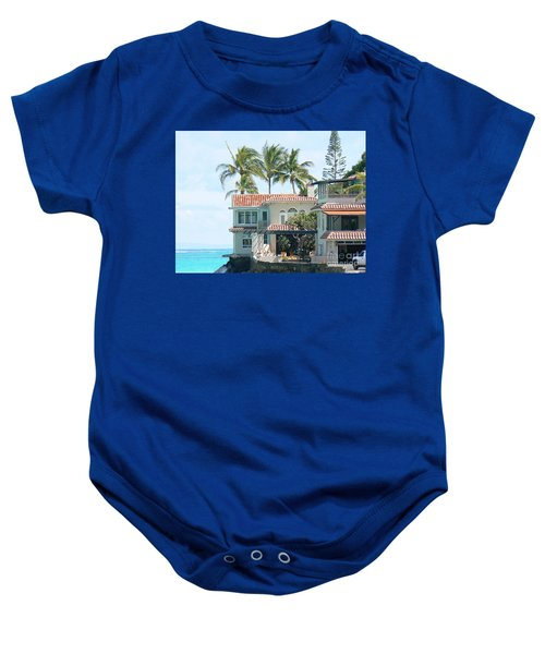 House At Land's End Baby Onesie by Dona  Dugay