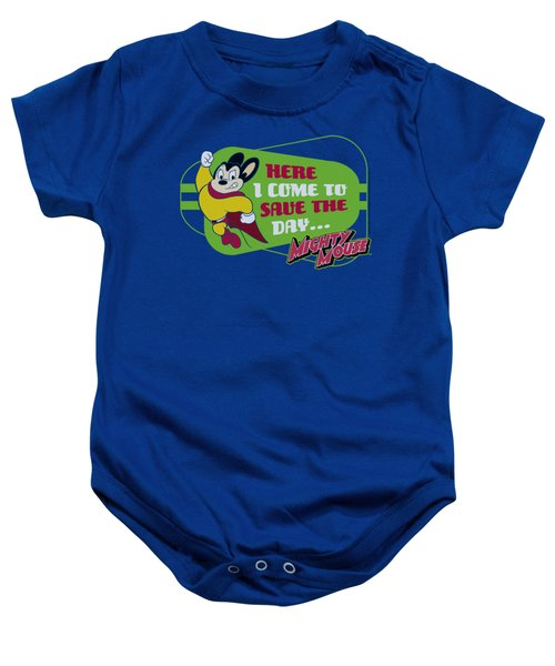 Mighty Mouse - Here I Come Baby Onesie by Brand A