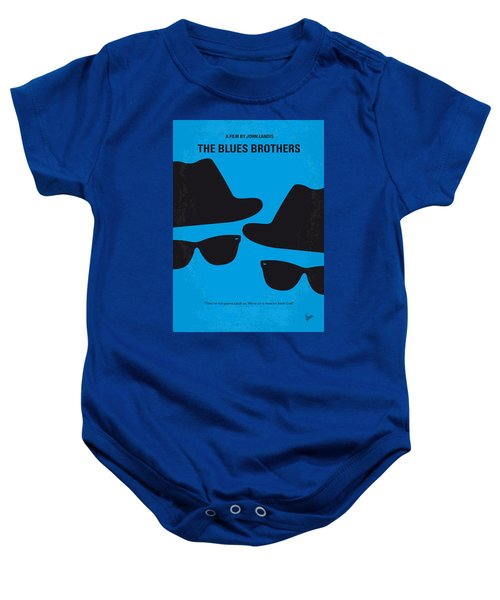 No012 My Blues Brother Minimal Movie Poster Baby Onesie by Chungkong Art