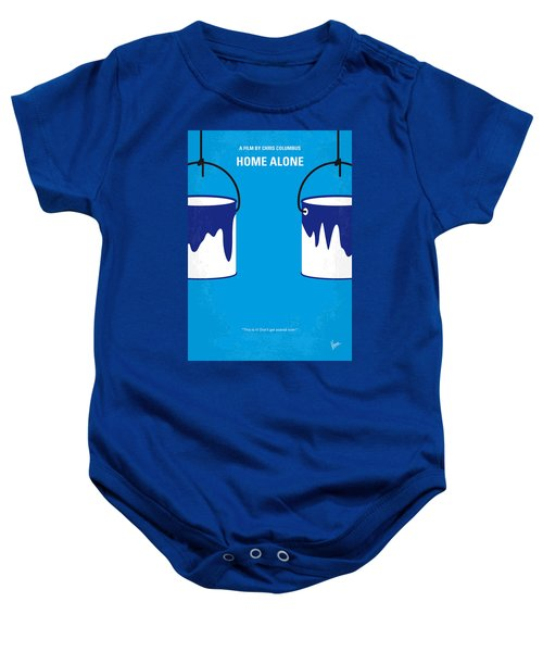 No427 My Home Alone Minimal Movie Poster Baby Onesie by Chungkong Art
