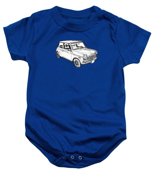 Mini Cooper Illustration Baby Onesie by Keith Webber Jr