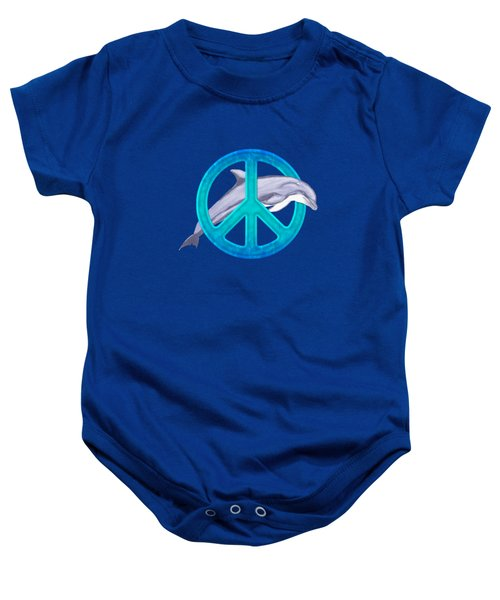 Dolphin Peace Baby Onesie by Chris MacDonald