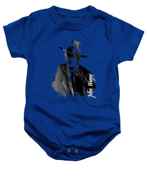John Wayne Collection Baby Onesie by Marvin Blaine