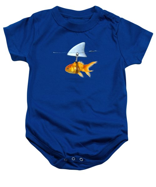 Gold Fish  Baby Onesie by Mark Ashkenazi