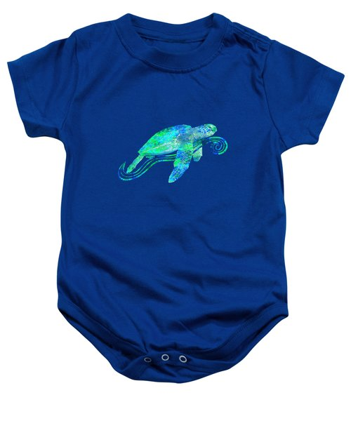 Sea Turtle Graphic Baby Onesie by Chris MacDonald