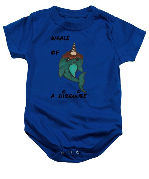 a Whale of a disguise Baby Onesie by Darci Smith