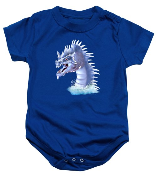 Arctic Ice Dragon Baby Onesie by Glenn Holbrook
