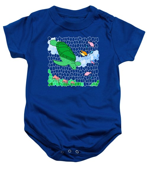 Turtle And Friends Baby Onesie by Methune Hively