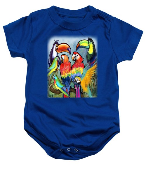 Tropical Birds Baby Onesie by Kevin Middleton