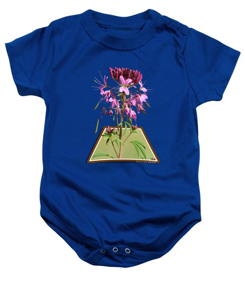 Rocky Mountain Bee Plant Baby Onesie by Shane Bechler