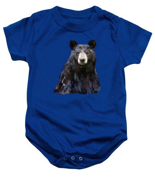 Black Bear Baby Onesie by Amy Hamilton