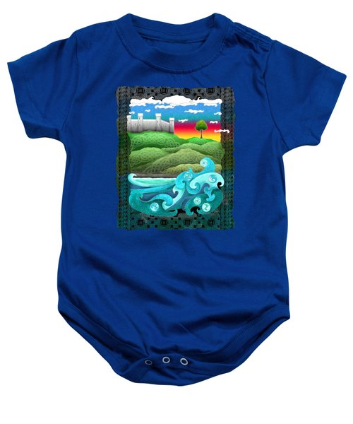 Celtic Castle Tor Baby Onesie by Kristen Fox