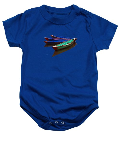 Colourful Fishing Boats  Baby Onesie by Aidan Moran