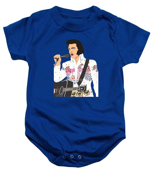 Elvis Presley - 1973 Baby Onesie by Troy Arthur Graphics