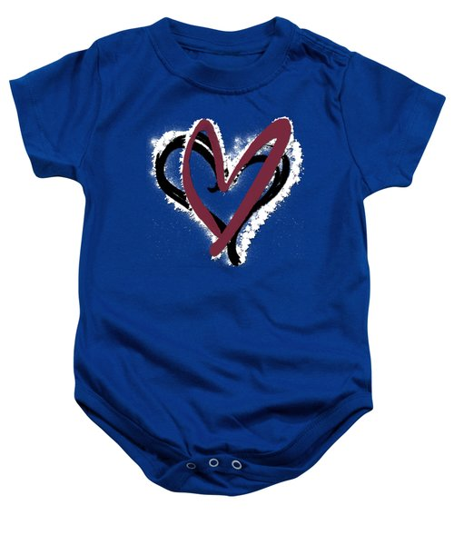 Hearts Graphic 6 Baby Onesie by Melissa Smith