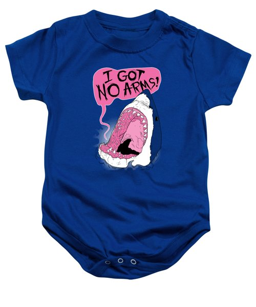 I Got No Arms Baby Onesie by Mike Lopez