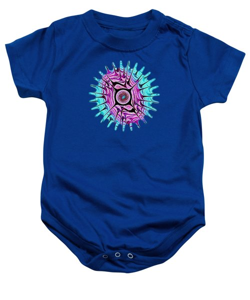 Ice Dragon Eye Baby Onesie by Anastasiya Malakhova