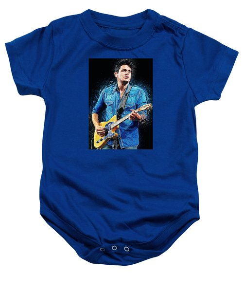 John Mayer Baby Onesie by Taylan Apukovska