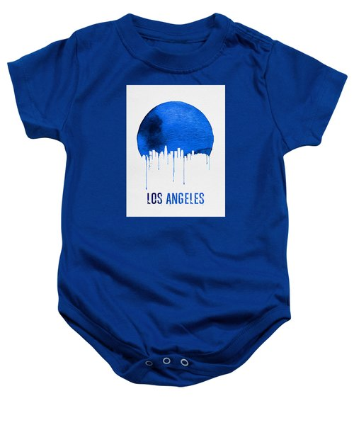 Los Angeles Skyline Blue Baby Onesie by Naxart Studio