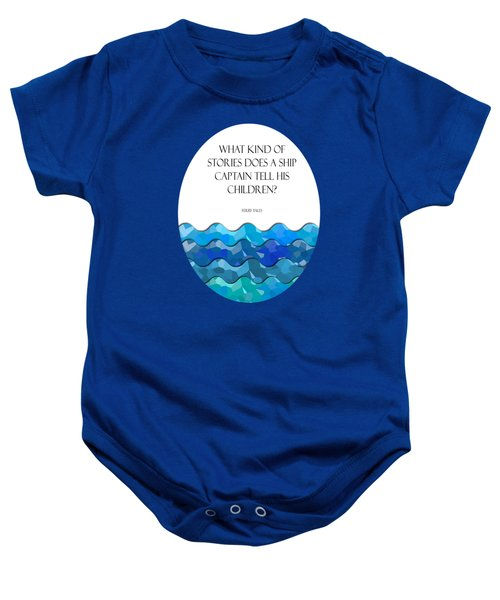 Maritime Humor For A Nursery Room Baby Onesie by Liesl Marelli