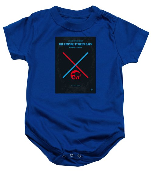 No155 My Star Wars Episode V The Empire Strikes Back Minimal Movie Poster Baby Onesie by Chungkong Art