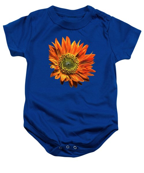 Orange Sunflower Baby Onesie by Christina Rollo