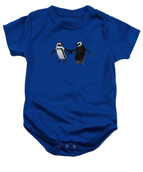 Penguin Dance Baby Onesie by Methune Hively