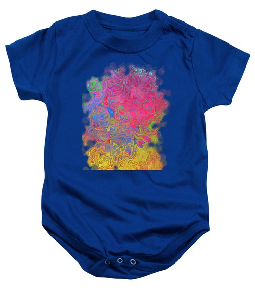 Psychedelic Laundry Transparent Design Baby Onesie by Shelly Weingart