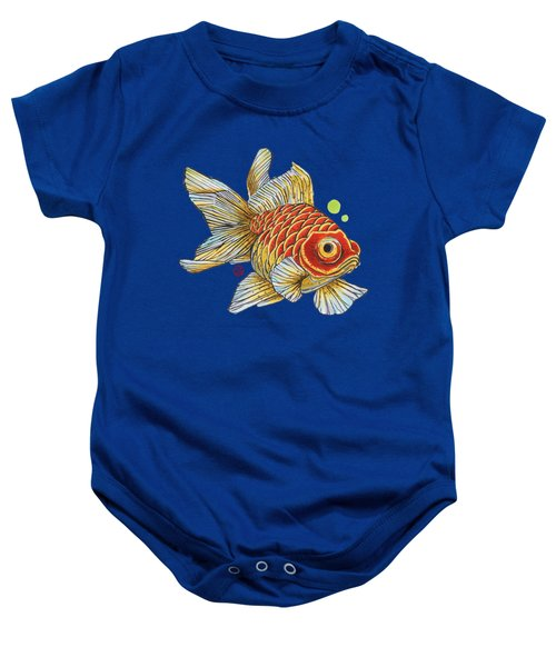 Red Telescope Goldfish Baby Onesie by Shih Chang Yang
