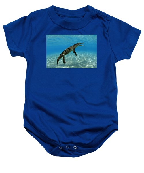 Saltwater Crocodile Baby Onesie by Franco Banfi and Photo Researchers