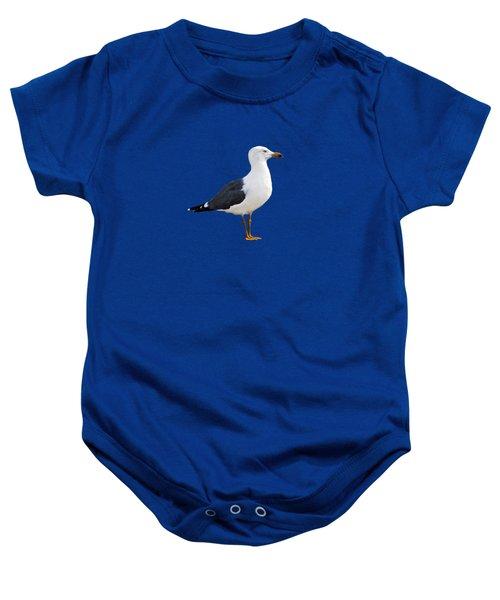 Seagull Portrait Baby Onesie by Sue Melvin