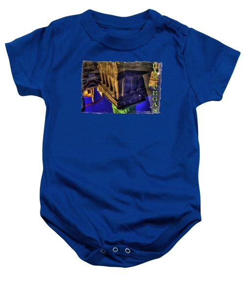 Statue Of Liberty Las Vegas Reflections Baby Onesie by Roger Passman