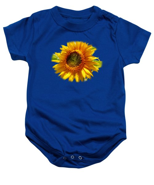 Sunny Sunflower Square Baby Onesie by Christina Rollo