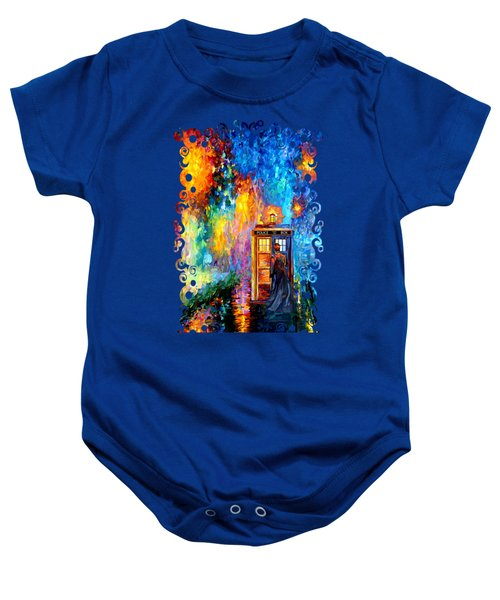 The Doctor Lost In Strange Town Baby Onesie by Three Second
