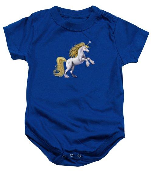 The Golden Unicorn Baby Onesie by Glenn Holbrook